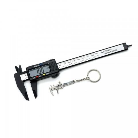 5169 Plastik Gövde Dijital Kumpas 150 mm Anahtarlık Hediyeli