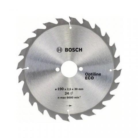Bosch Optiline Eco Ahşap Daire Testere 190x30mm 24 Diş 2608644376