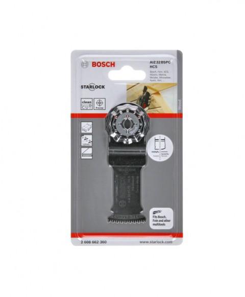 Bosch - Starlock - AIZ 32 BSPB - BIM Sert Ahşap İçin Daldırmalı Testere Bıçağı